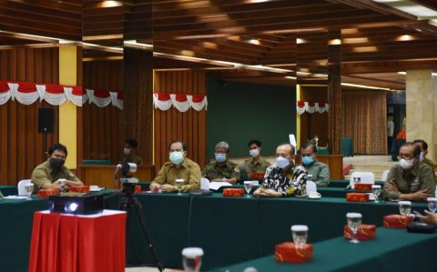 Sekjen KLHK Pimpin Rapat Koordinasi Penanggulangan dan Pencegahan Covid-19 Lingkup KLHK*